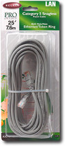 Belkin - 25-foot RJ45 CAT5E Snagless Networking Cable - Gray - Gray