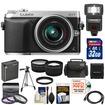 Panasonic - DMC-GX7 Micro Four Thirds Camera+14-42 II Lens+32GB+Battery+Case+Tripod+Flash+Tele/Wide Lenses