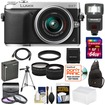 Panasonic - DMC-GX7 Micro Four Thirds Camera+14-42 Lens+64GB Card+Batt+Sling Case+Tripod+Flash+Tele/Wide Lenses