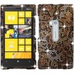 Insten - Full Diamond Design Case Cover For Nokia Lumia® 920 - Cheetah Diamond