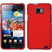 Insten - Rubberized Hard Case Cover For Samsung Galaxy S II i77 7/i9100 - Red