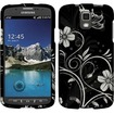 Insten - Rubberized Design Case Cover For Samsung Galaxy® S4 Active i537 i9295 - White Flowers