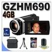 JVC - Bundle Everio Gz-hm690 64gb Full Hd Memory Camcorder Bigvalueinc Accessory Saver 4gb -Jvc GZ-HM690B 1 - Black