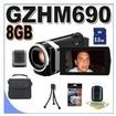 JVC - Bundle Everio Gz-hm690 64gb Full Hd Memory Camcorder Bigvalueinc Accessory Saver 8gb -Jvc GZ-HM690B 2 - Black