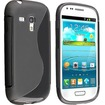 eForCity - TPU Rubber Case Cover for Samsung Galaxy® S III Mini I8190 - Black S Shape - Black S Shape
