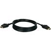 QVS - High Speed HDMI 720p/1080p 3D HDTV Digital A/V Swivel Cable - Black