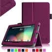 """Fintie - PU Leather Case Cover for 7"""" Android Tablet - Dragon Touch, Chromo,Zeepad, A13 Q88 - Purple"""