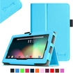 """Fintie - PU Leather Case Cover for 7"""" Android Tablet - Dragon Touch, Chromo,Zeepad, A13 Q88 - Blue"""