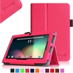 """Fintie - PU Leather Case Cover for 7"""" Android Tablet - Dragon Touch, Chromo,Zeepad, A13 Q88 - Magenta"""