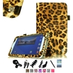 Fintie - Folio Case Cover for Samsung Galaxy Tab 3 7.0 inch Tablet - Brown Leopard
