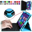 Fintie - Premium Leather Cover Case for Microsoft Surface Pro / Pro 2 10.6 Inch Tablet - Blue