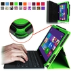 Fintie - Premium Leather Cover Case for Microsoft Surface Pro / Pro 2 10.6 Inch Tablet - Green