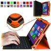 Fintie - Premium Leather Cover Case for Microsoft Surface Pro / Pro 2 10.6 Inch Tablet - Orange