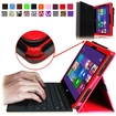 Fintie - Premium Leather Cover Case for Microsoft Surface Pro / Pro 2 10.6 Inch Tablet - Red