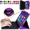Fintie - Premium Leather Cover Case for Microsoft Surface Pro / Pro 2 10.6 Inch Tablet - Violet
