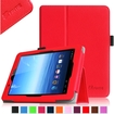 Fintie - Folio Leather Case Cover For E FUN Nextbook Premium 8HD SE NX008HD8G Tablet - Red