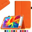 Fintie - Folio Case Slim Fit Leather Cover for Samsung Galaxy® Tab 4 8.0 inch Tablet - Orange