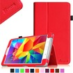 Fintie - Folio Case Slim Fit Leather Cover for Samsung Galaxy® Tab 4 8.0 inch Tablet - Red