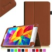 Fintie - Folio Case Slim Fit Leather Cover for Samsung Galaxy® Tab 4 8.0 inch Tablet - Brown