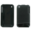 AGF - AGF - Lambskin Case for Apple iPhone 3G / 3GS Cell Phones - Black