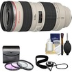 Canon - EF 70-200mm f/2.8L USM Zoom Lens with 3 UV/FLD/CPL Filters + Accessory Kit