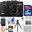Canon - PowerShot G16 Wi-Fi Digital Camera (Black) with 32GB Card+Case+Battery+Flex Tripod+Accessory Kit