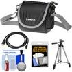 Panasonic - Digital Camera Carrying Case (Black) w/ Tripod+HDMI Cable+Accessory Kit for Lumix FZ70+FZ200 Cameras