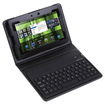 Image - Leather Stand Case Wireless Bluetooth Keyboard or Blackberry Playbook Tablet - Black