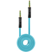 Cellet - 3.5mm Flat Wire Audio Cable for Smartphones/Tablets/MP3 Players - Light Blue - Light Blue