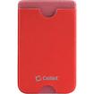 Cellet - EZStick Universal ID/Credit Card Holder for Smartphones - Red - Red