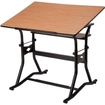 "Alvin - Drafting, Drawing, and Art Table, Black Base Cherry Top30"" x 42"" - Black, Cherry"