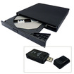 Image - USB 2.0 External Slim 24X CD-ROM Drive for Acer Aspire One AoA110 D250 w/ all-in-one card reader