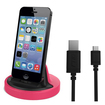 RND Power Solutions - Desktop Charging Dock for Apple iPhone Smartphones. Compatible without or with rugged dual layer cases. - Black and Pink