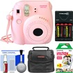 Fujifilm - Instax Mini 8 Instant Film Camera with Instant Film+Case+Batteries+Charger+Kit - Pink