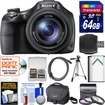 Sony - Cyber-Shot DSC-HX400V Wifi Digital Camera w/ 64GB Card+Case+Batt.+Tripod+HDMI Cable+3 Filters Kit - Black