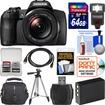 Fujifilm - FinePix S1 Weather Resistant Wi-Fi Digital Camera with 64GB Card+Case+Flash+Battery+Tripod+Kit - Black