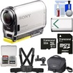 Sony - Action Cam HDR-AS100V Wifi GPS HD Video Camcorder w/ 32GB Card+Batt.+Chest Mount+Case+Acc Kit - Black