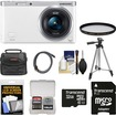Samsung - NX Mini Smart Wifi Digital Camera w/ 9-27mm Lens+Flash w/ 32GB Card+Case+Filter+Tripod+Acc Kit - White