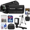 Panasonic - HC-V250K HD Wi-Fi Video Camera Camcorder with 32GB Card+Case+LED Video Light+Tripod+Kit - Black