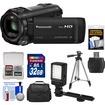 Panasonic - HC-V750K HD Wi-Fi Video Camera Camcorder with 32GB Card+Case+LED Light+Tripod+Kit - Black