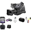Panasonic - AG-HMC80 3MOS AVCCAM HD Shoulder-Mount Camcorder with 32GB Accessory Kit - Black