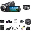 Sony - CX520V 64GB HD Camcorder Accessory 8GB PRODuo Battery/Rapid External Charger Bundle - Black