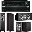 Onkyo - 7.2-Channel A/V Receiver Plus A Polk Audio TSi Series Home Theater Speaker Package - Black