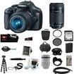 Canon - Rebel Bundle EOS Rebel T3 12.2MP DSLR Camera & 18-55MM IS II Lens Black - 5157B002 - Black