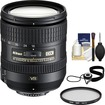 Nikon - 16-85mm f/3.5-5.6 G VR DX AF-S ED Zoom-Nikkor Lens with Filter + Cap Keeper + Cleaning Kit - Black