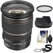 Canon - EF-S 17-55mm f/2.8 IS USM Zoom Lens with Hoya Multi-Coated UV Filter + EW-83J Hood + Acc Kit - Black