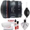Canon - EF 8-15mm f/4.0 L USM Fisheye Zoom Lens with Case+EW-77 Lens Hood+Cleaning Kit - Black
