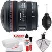 Canon - EF 8-15mm f/4.0 L USM Fisheye Zoom Lens with Case+EW-77 Lens Hood+Cleaning Kit - Black