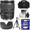 Canon - EF 28-135mm f/3.5-5.6 IS USM Zoom Lens with Case+Tripod+Hoya UV Filter+Accessory Kit - Black