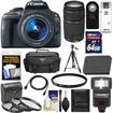 Canon - EOS Rebel SL1 Camera+EF-S Lens +75-300 Lens+64GB Card+Battery+Case+Flash+3 UV/CPL/ND8 Filters - Black